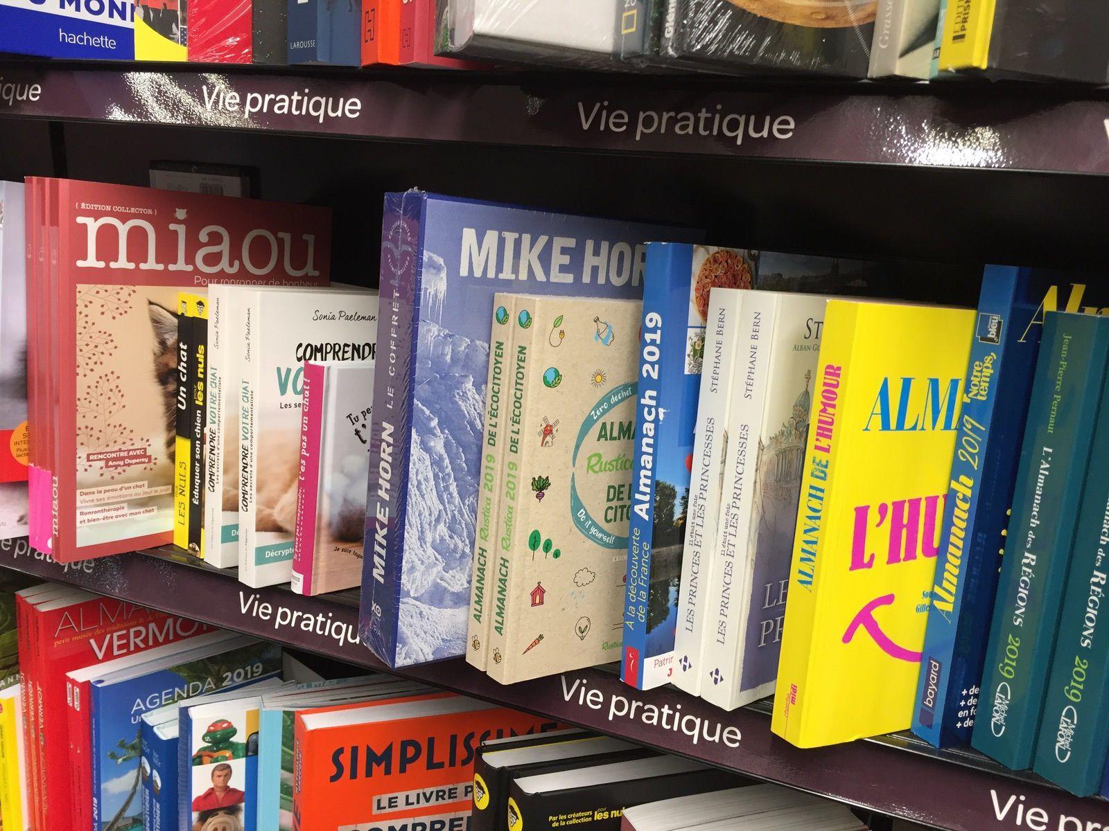 De très bonnes références au rayon livres - vie pratique chez Carrefour !