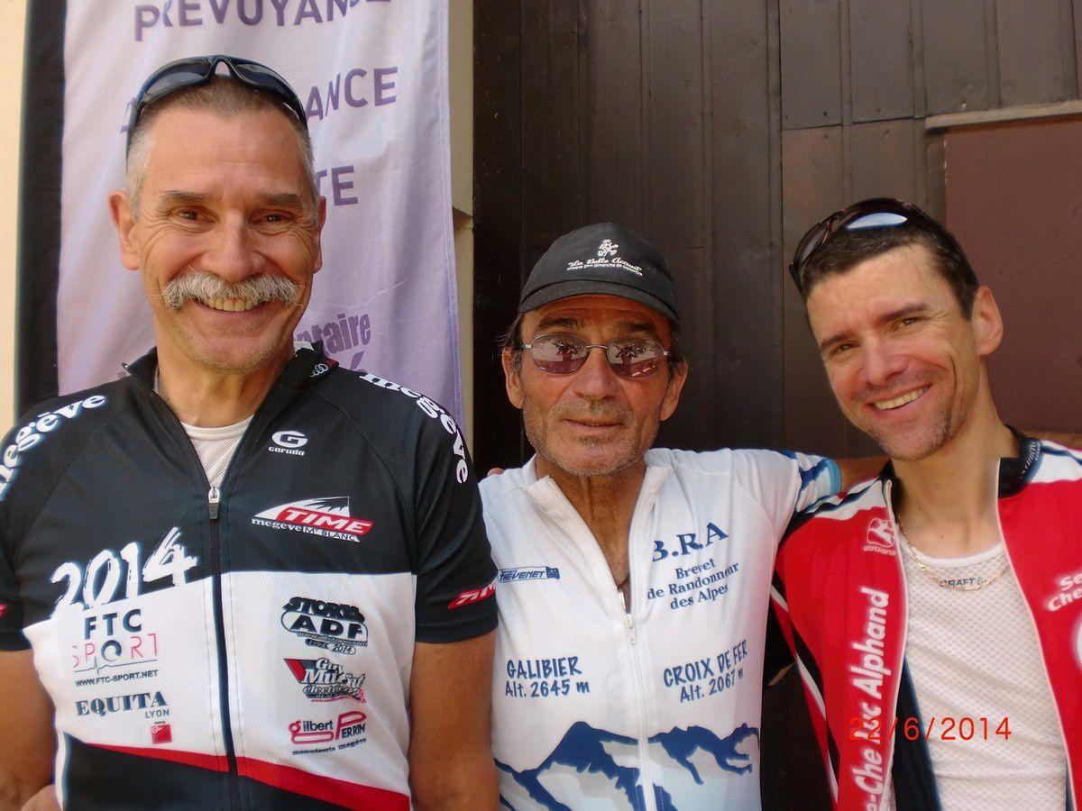 Le trio des cyclomontagnards du VCBJ