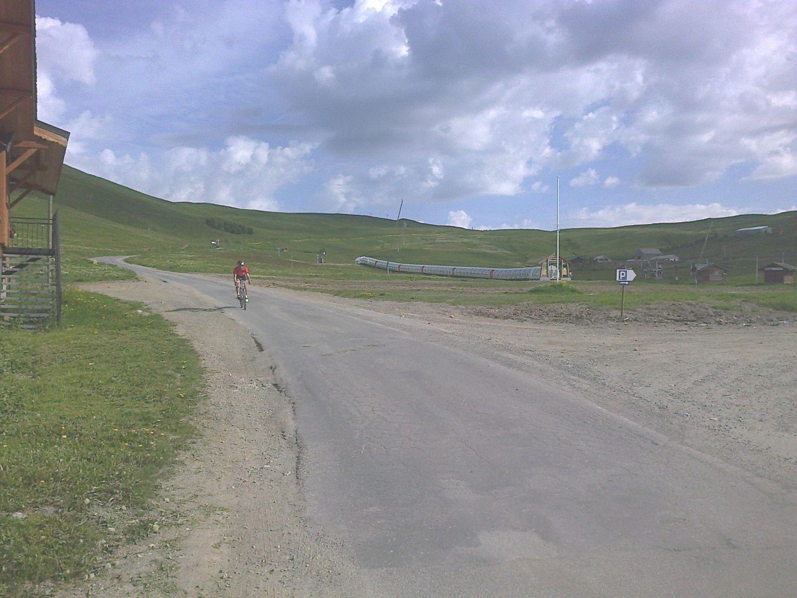 JC à le descente du col du Poutran, retour vers l'Alpe d'Huez