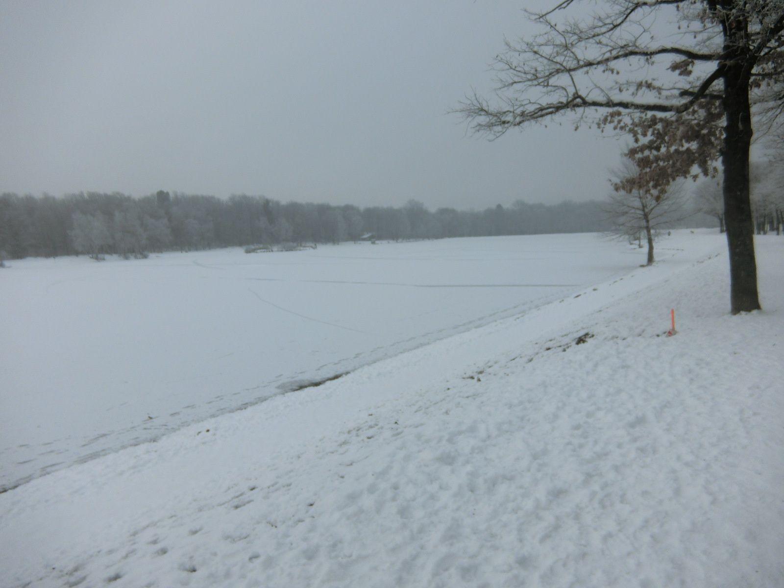 Tour du lac en ambiance polaire