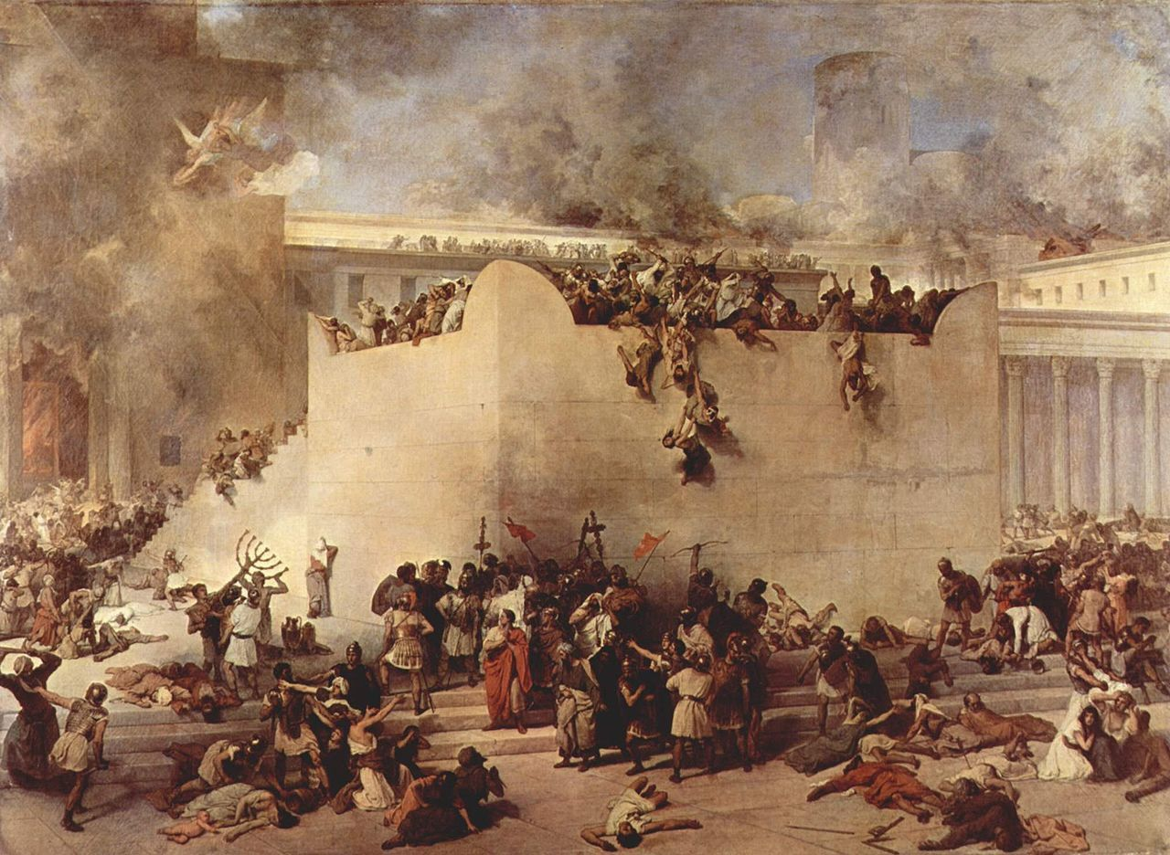 Wikipedia. Peinture de Francisco Hayez : la destruction du Temple de Jérusalem