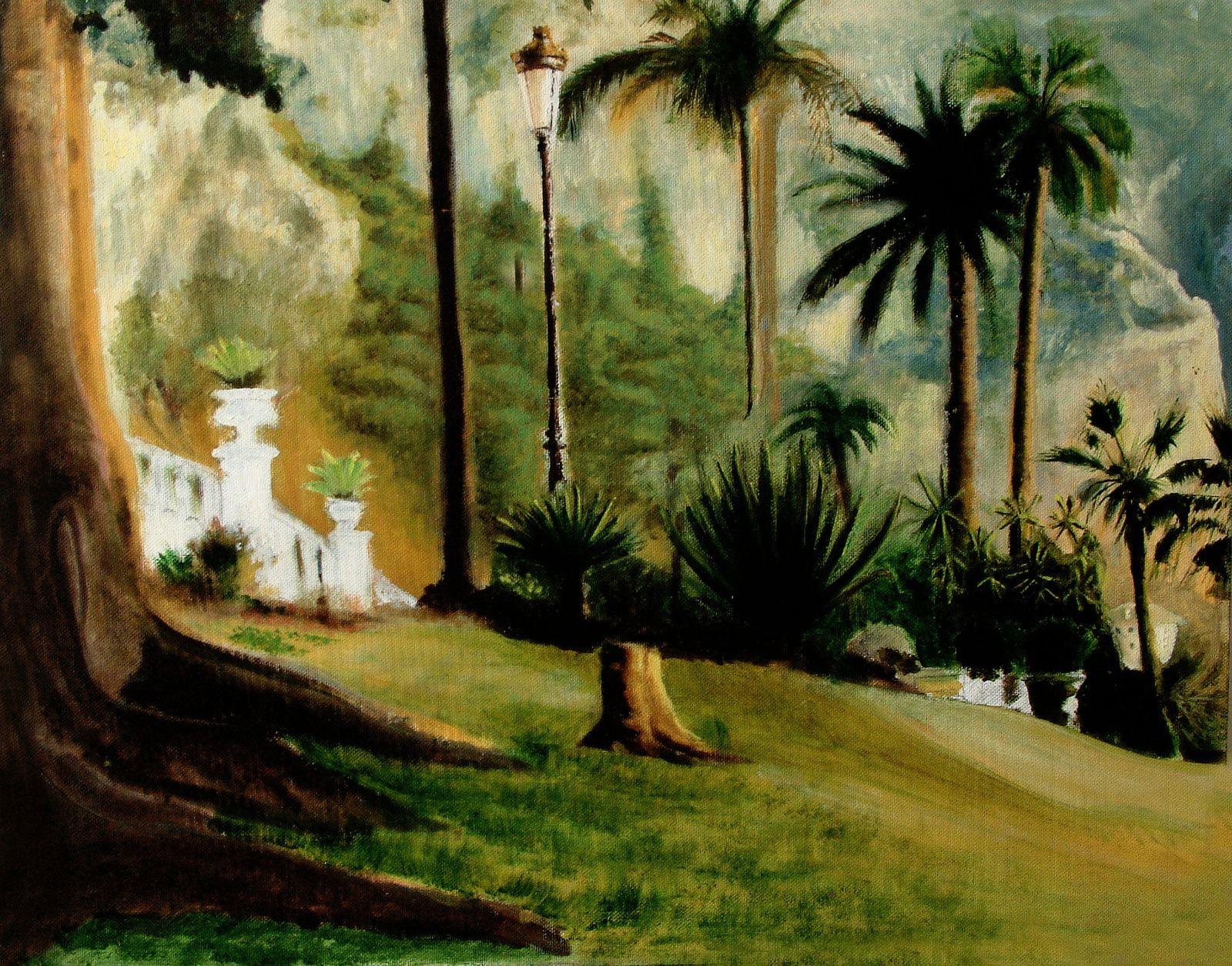 Tableau d'une belle oasis