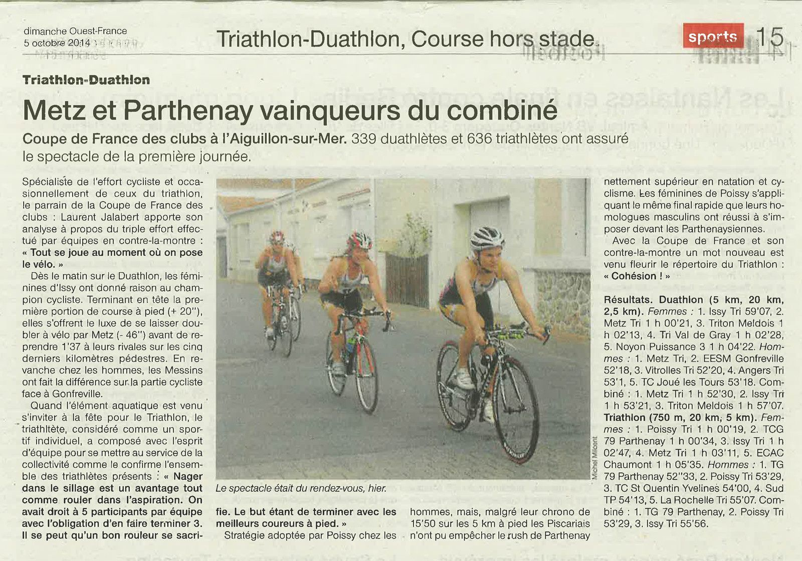 OUEST FRANCE 05-10-2014