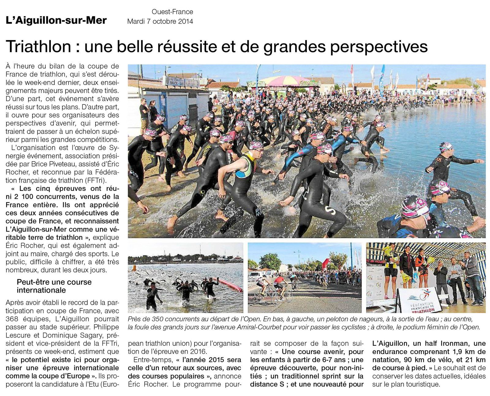 OUEST FRANCE 07 10 2014