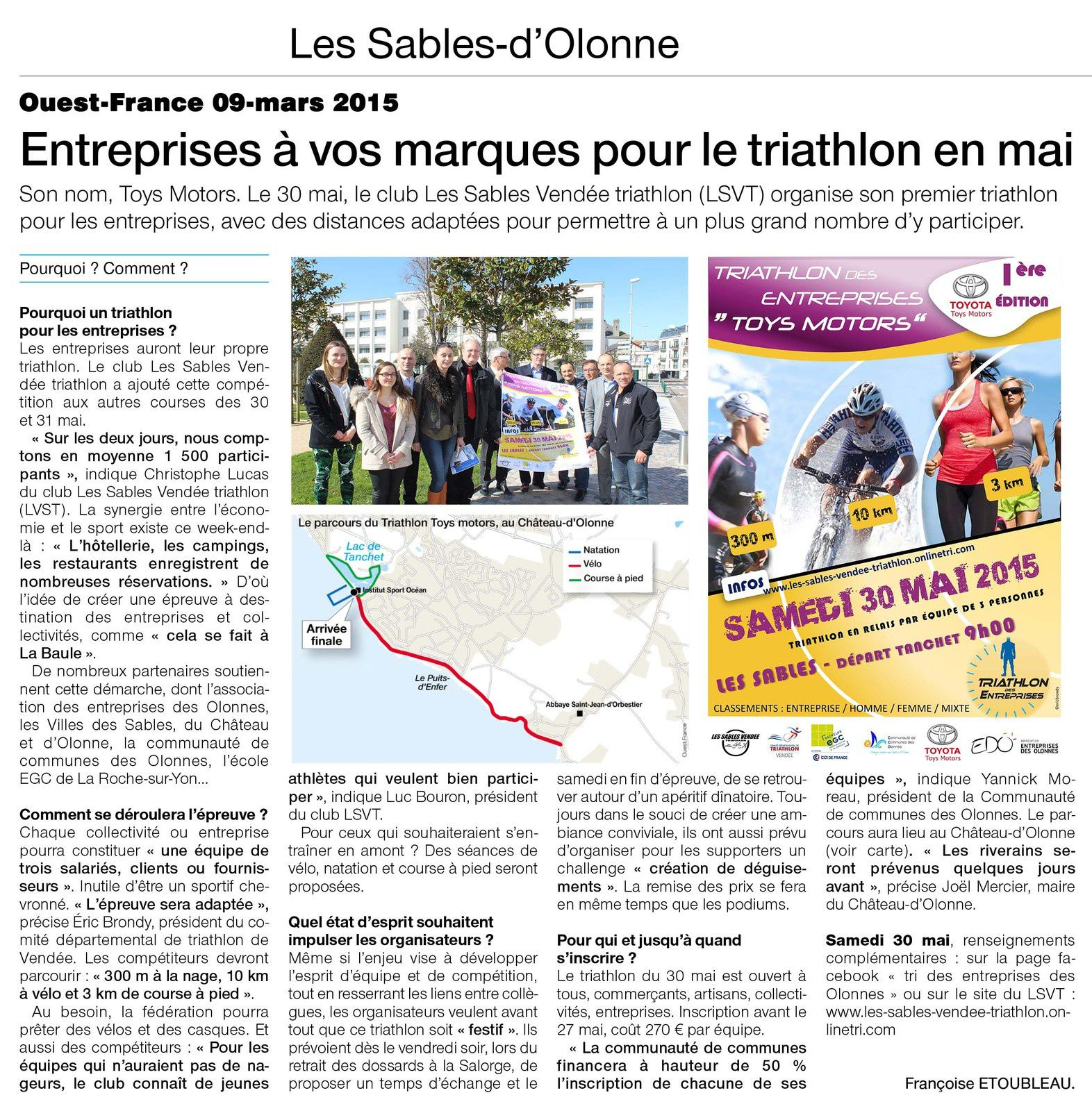 OUEST-FRANCE 09 MARS 2015