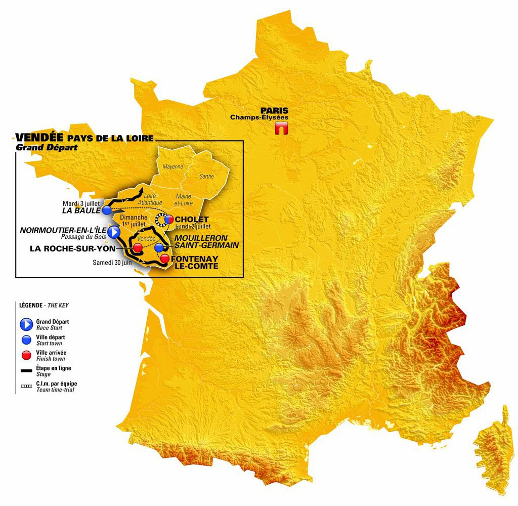 TOUR DE FRANCE 2018 VENDEE (LES ÉTAPES DU GRAND OUEST)