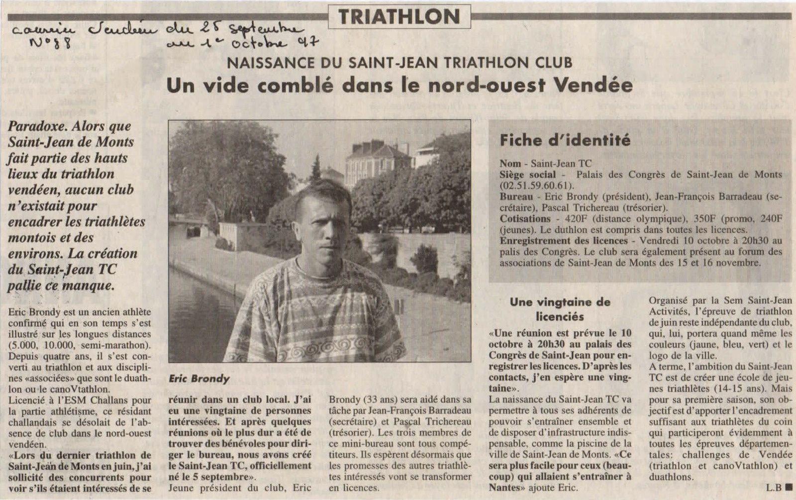 #TRIATHLONSAINTJEANDEMONTS