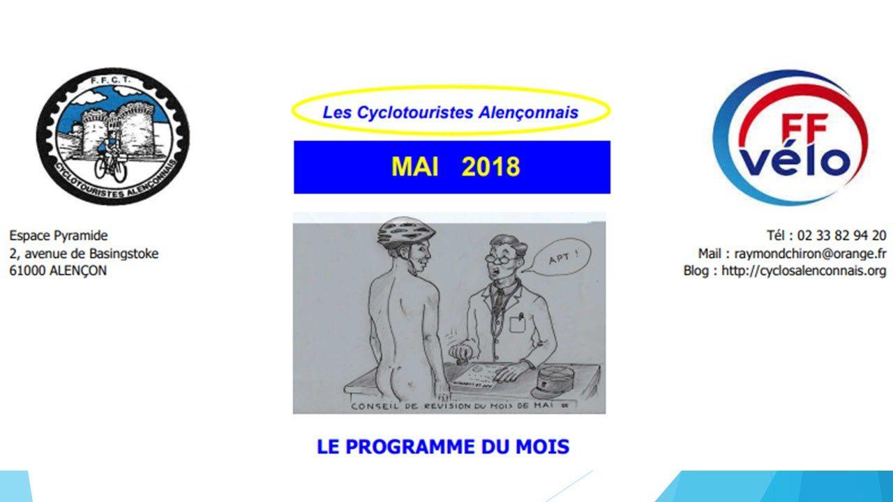 PROGRAMME MAI 2018