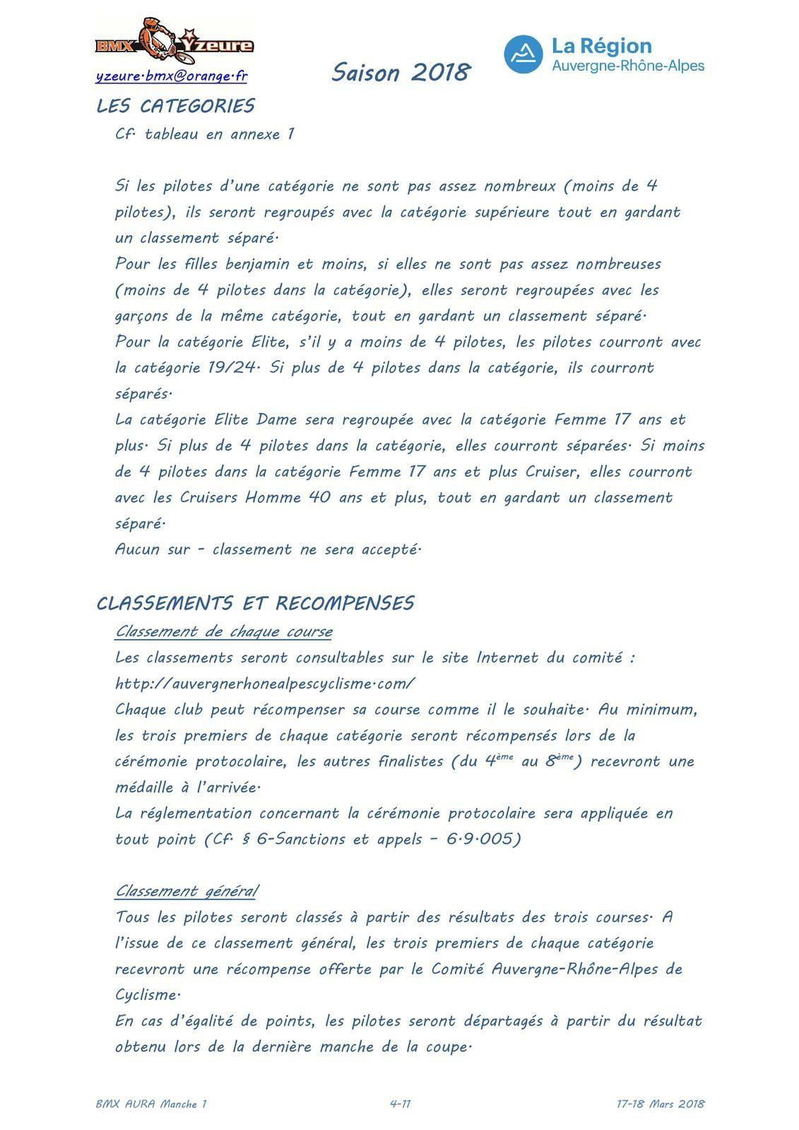 Invitation pour la première manche de la Coupe Aura à Yzeure, 17 et 18 mars 2018