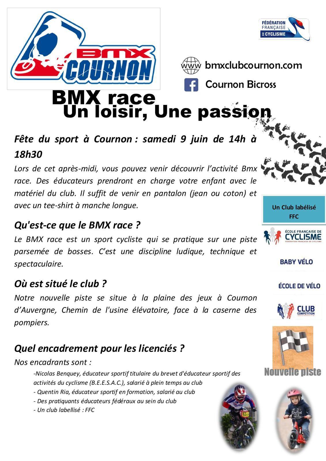 Fête du sport à Cournon : une occasion de tester le BMX !!!