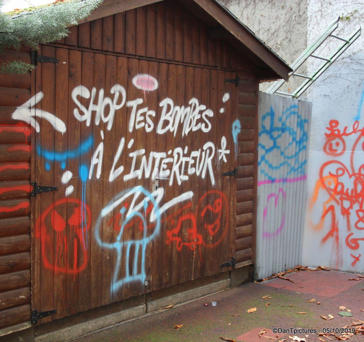 Joinville-le-Pont ; Street Art à l'école du centre. Qui a eu cette idée folle ?