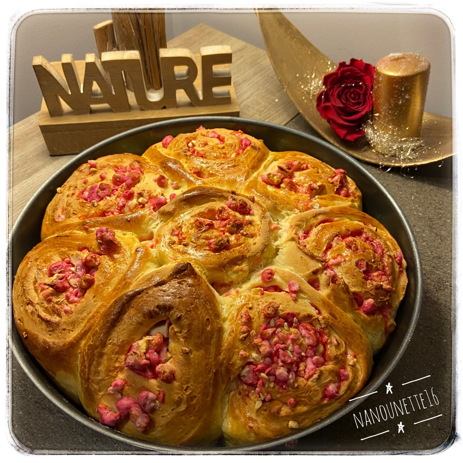 Brioche aux pralines roses - Thermomix