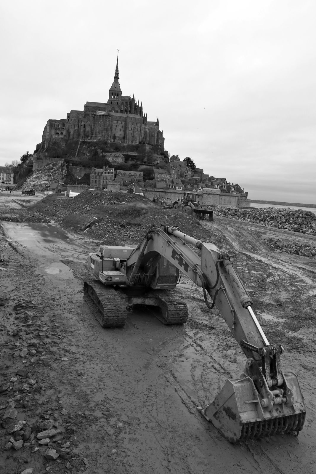 Travaux au Mont Saint-Michel