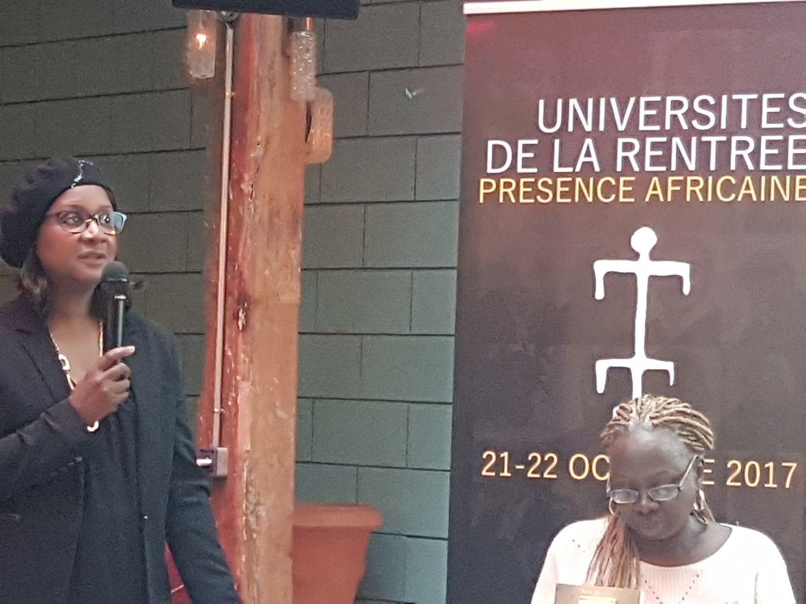 Mme Yande Christiane DIOP présidente des éditions Présence Africaine, rue des écoles Paris 5eme