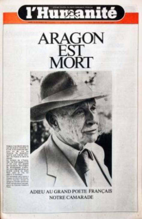 Louis ARAGON, un romancier et poète du Monde réel.