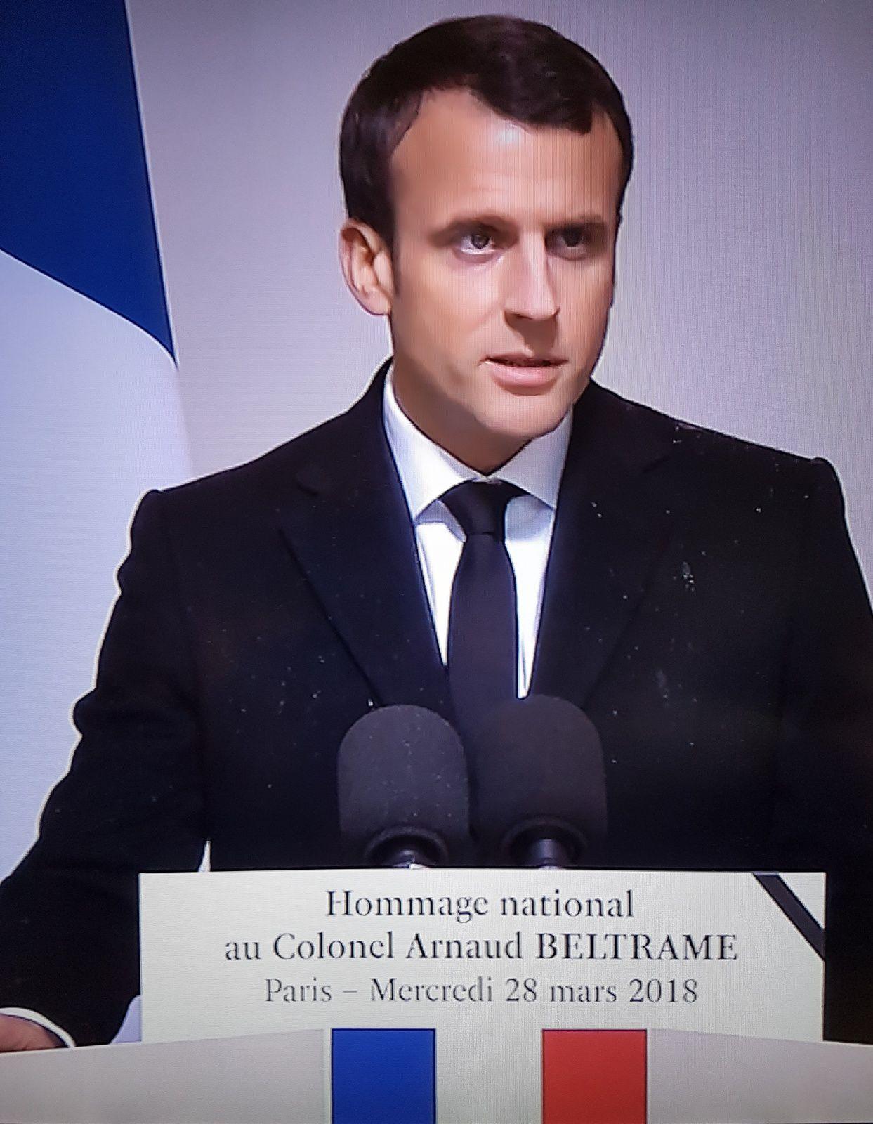 Le lieutenant-colonel, Arnaud BELTRAME, un héros.