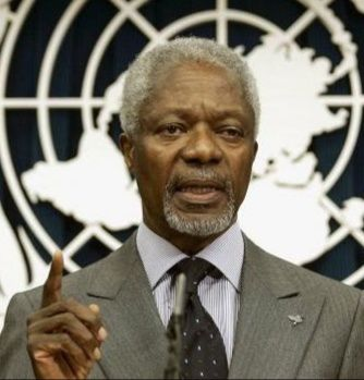 """""""Kofi ANNAN ancien secrétaire général des Nations unies est mort à l'âge de 80 ans"""" par M. Amadou Bal BA baamadou.overblog.fr"""