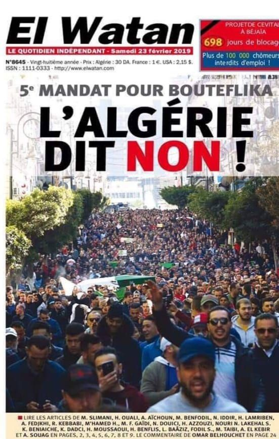 """""""Les Algériens commencent à se mobiliser contre un 5ème mandat de BOUTEFLIKA"""" par Amadou Bal BA baamadou.overblog.fr."""