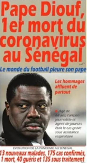 «Pape DIOUF (1951-2020), 16ème jour de confinement: le briseur de sort, dirigeant engagé avec une ambition: être humain» par Amadou Bal BA - http://baamadou.over-blog.fr/