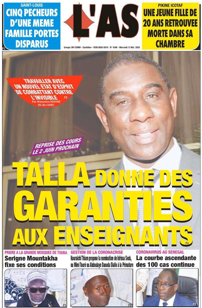 «Sénégal : assouplissement du couvre-feu à compter du 12 mai 2020» par Amadou Bal BA - http://baamadou.over-blog.fr/