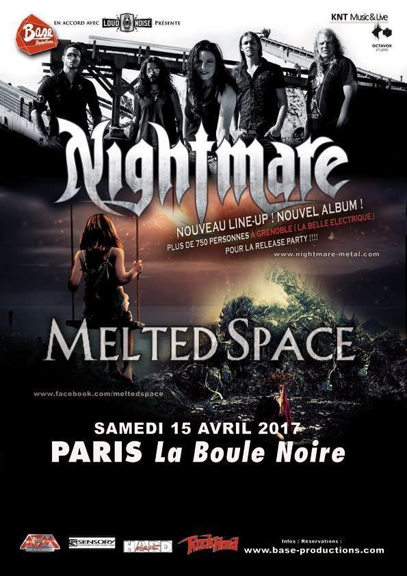Gagnez votre Invitation au concert de NIGHTMARE / MELTED à la Boule Noire ce samedi 15 avril 2017 !!!