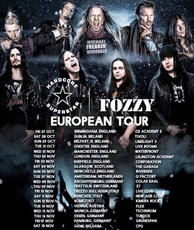 Tournée européenne FOZZY / HARDCORE SUPERSTAR