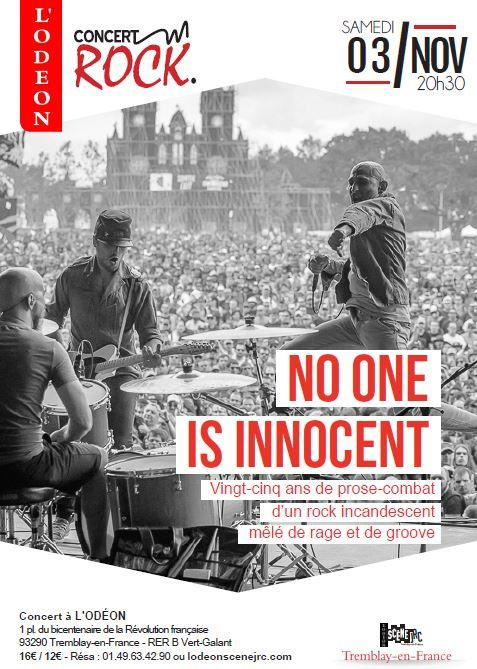 Gagnez vos places pour le concert de NO ONE IS INNOCENT à Tremblay en France