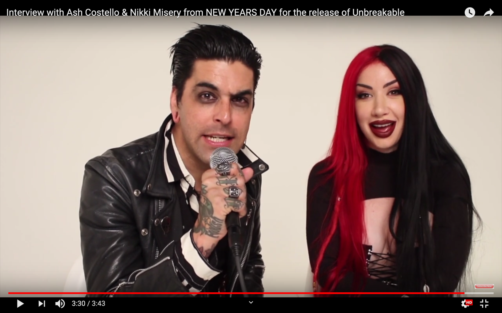 Nouvelle interview avec NEW YEARS DAY pour Unbreakable