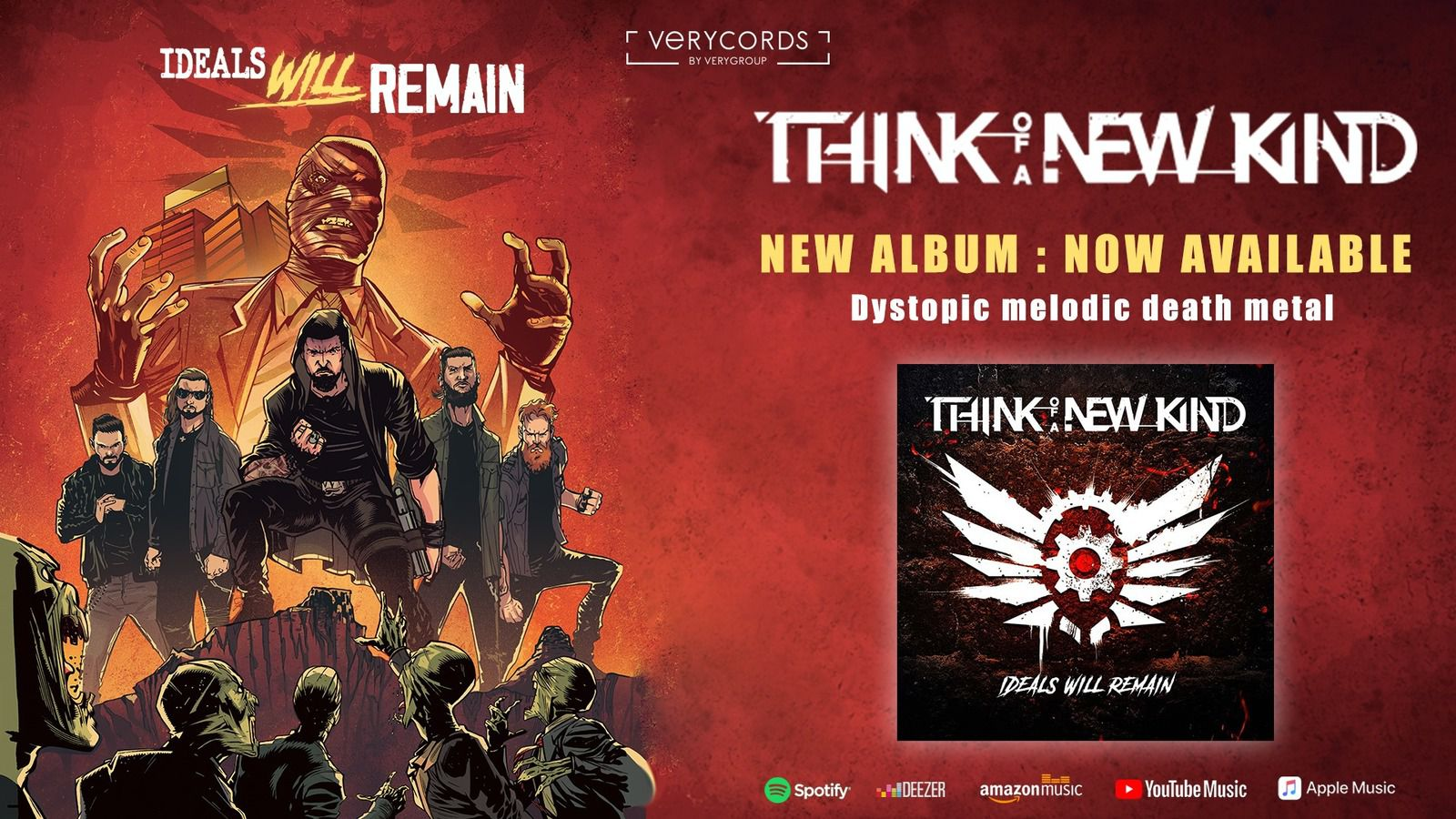 Le nouvel album de THINK OF A NEW KIND est déjà disponible !