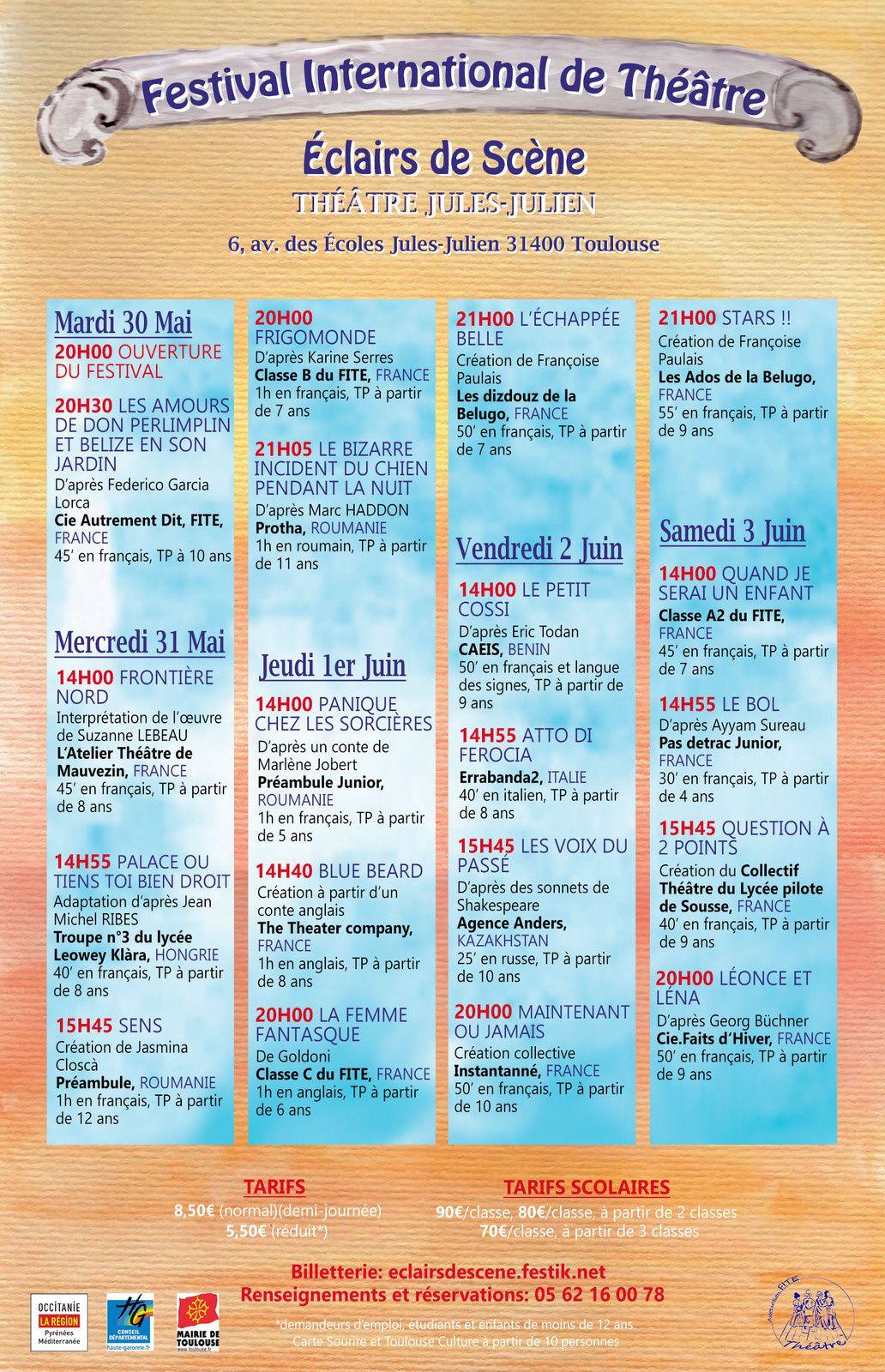 """Avant programme du Festival International """"Éclairs de scène"""", avec Pasdetrac Junior le samedi"""