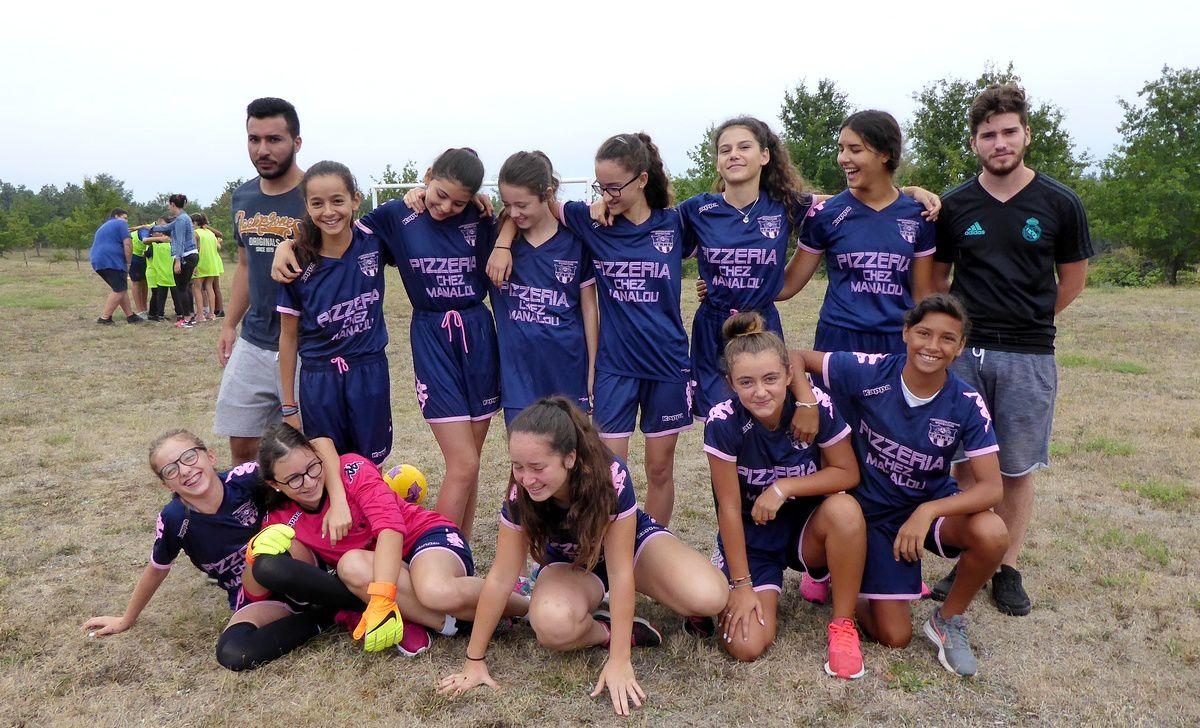 L'équipe féminine de l'AS Briatexte en toute décontraction (sélection U11 à U15)
