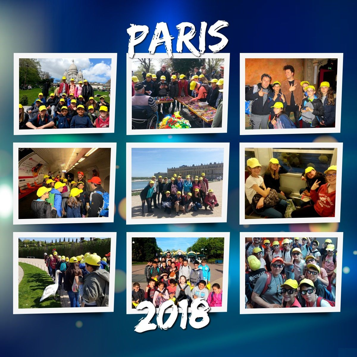 Séjour Paris 2018 :  Vendredi 20 avril