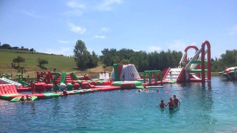La base de loisirs de Monclar de Quercy qui accueille les 8-9 ans