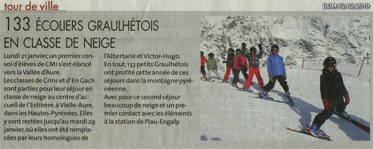2ème Séjour 2019 des classes de neige : Albertarié & V. Hugo