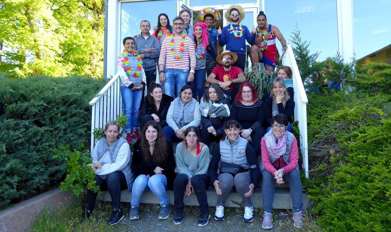 L'équipe d'animation de cette 2ème semaine des vacances de printemps 2019 à La Courbe