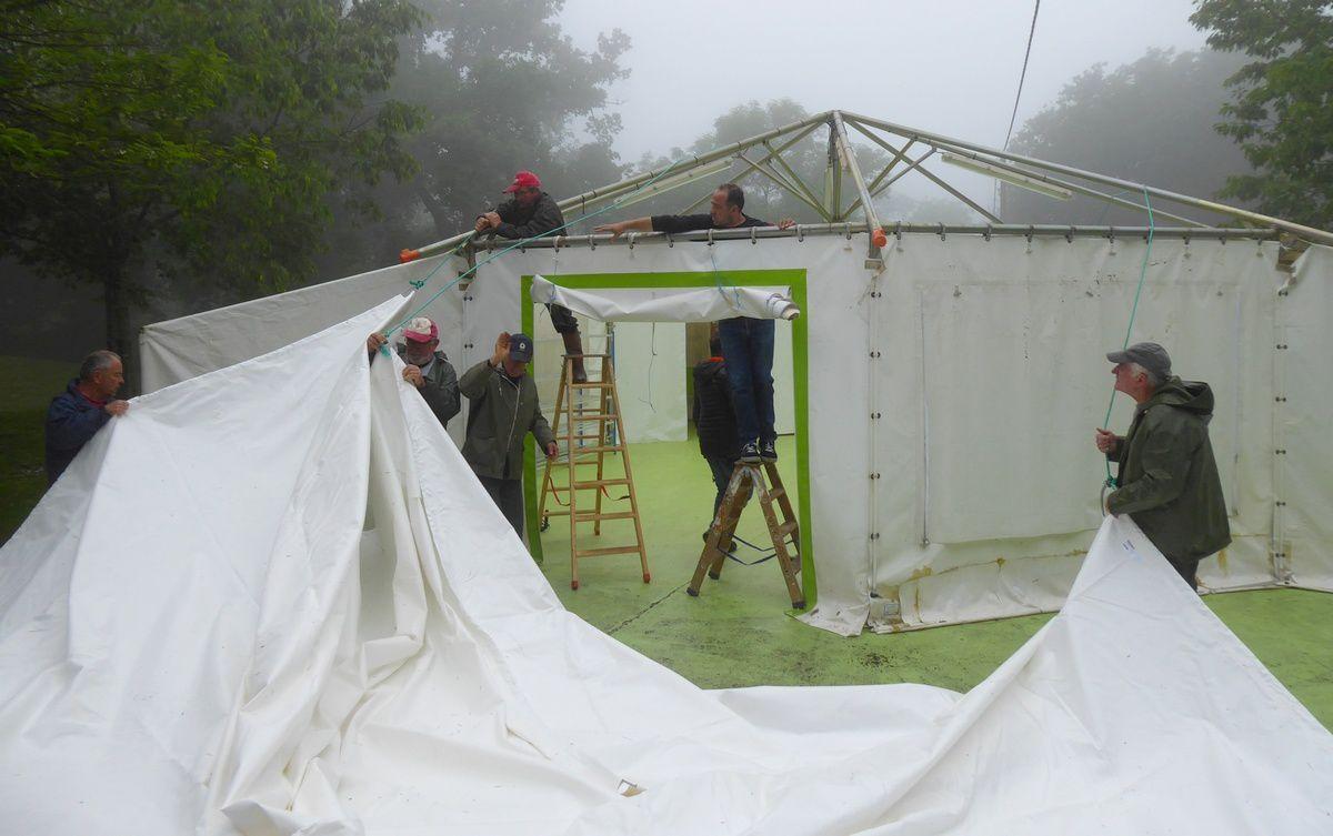 Remplacement toit tentes élémentaires