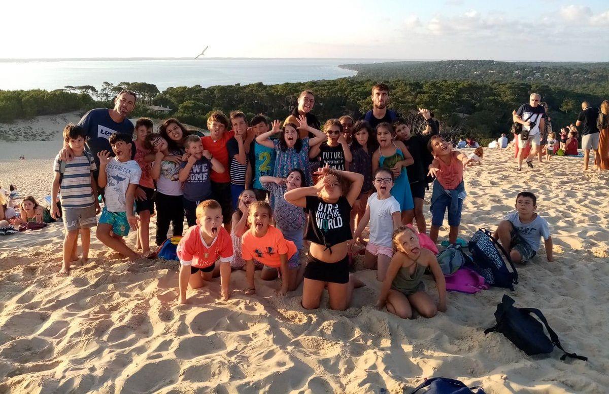 Coucher de soleil sur la dune du Pilat.