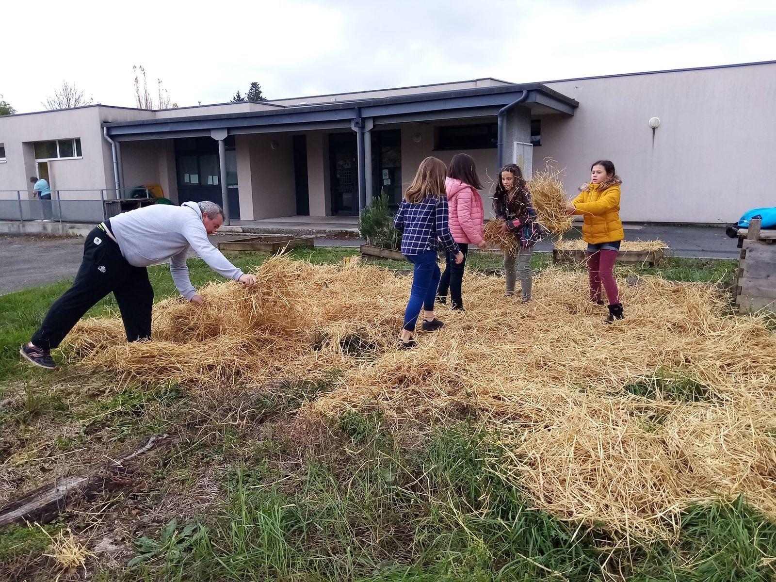 ME En Gach : Paillage du jardin