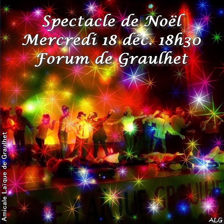ME : Spectacle de Noël mercredi 18 déc. au Forum