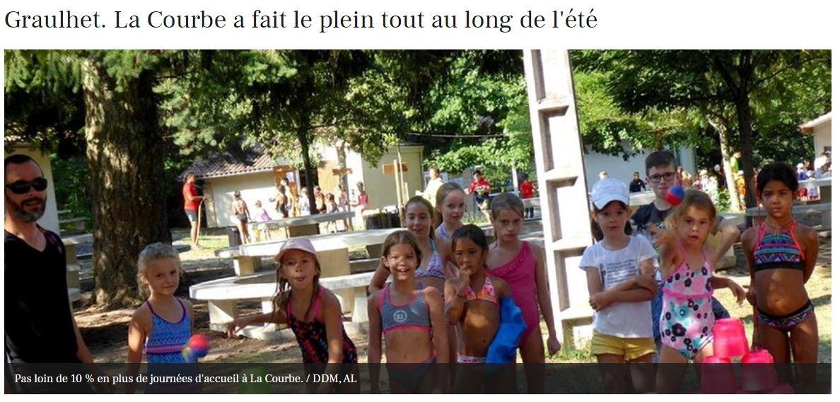 2019-09 : Le centre de vacances de La Courbe vient de clore ses huit semaines de fonctionnement sur des séjours diversifiés et ludiques.