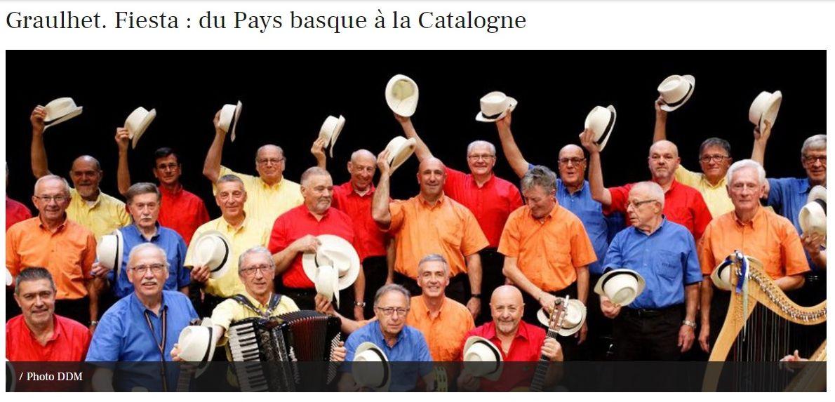 2018-09 : Quand il lance son Irrinzina ou entonne Arrantzaleak, Philippe Moustrous retrouve le temps d'une chanson son Pays basque d'origine. Le gendarme gaillacois qu'il est aujourd'hui vient de reprendre la présidence de Fiesta en même temps qu'il a gardé sa place au pupitre des ténors 1 du groupe vocal.
