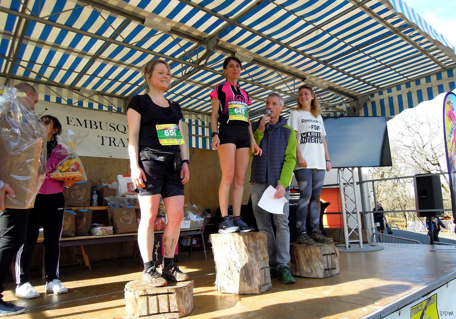 Le podium du 8 km féminin./ Photo DDM G.D.