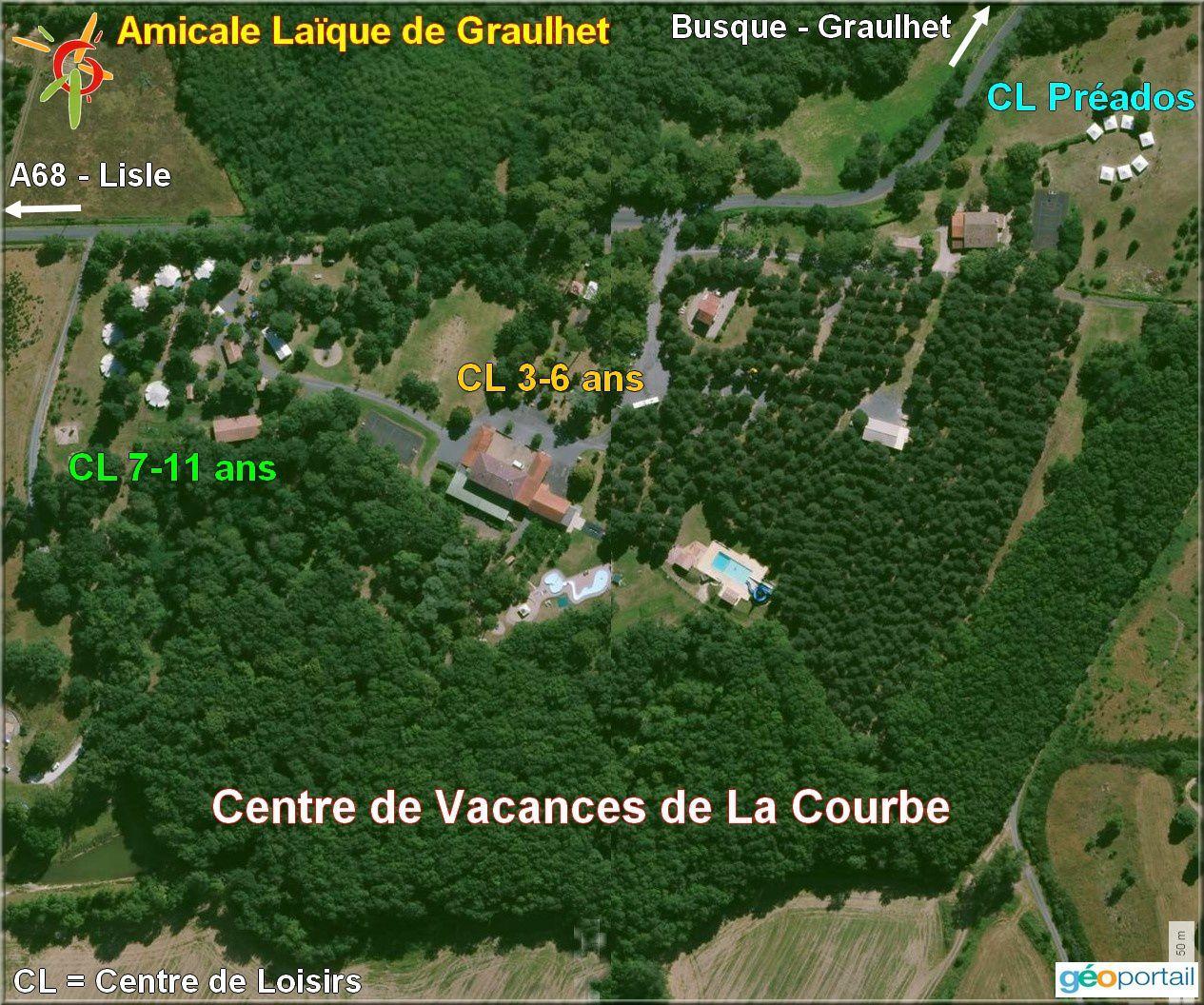 Ne figurent pas sur l'image les 9 tentes de réception prêtées par les municipalités du territoire.