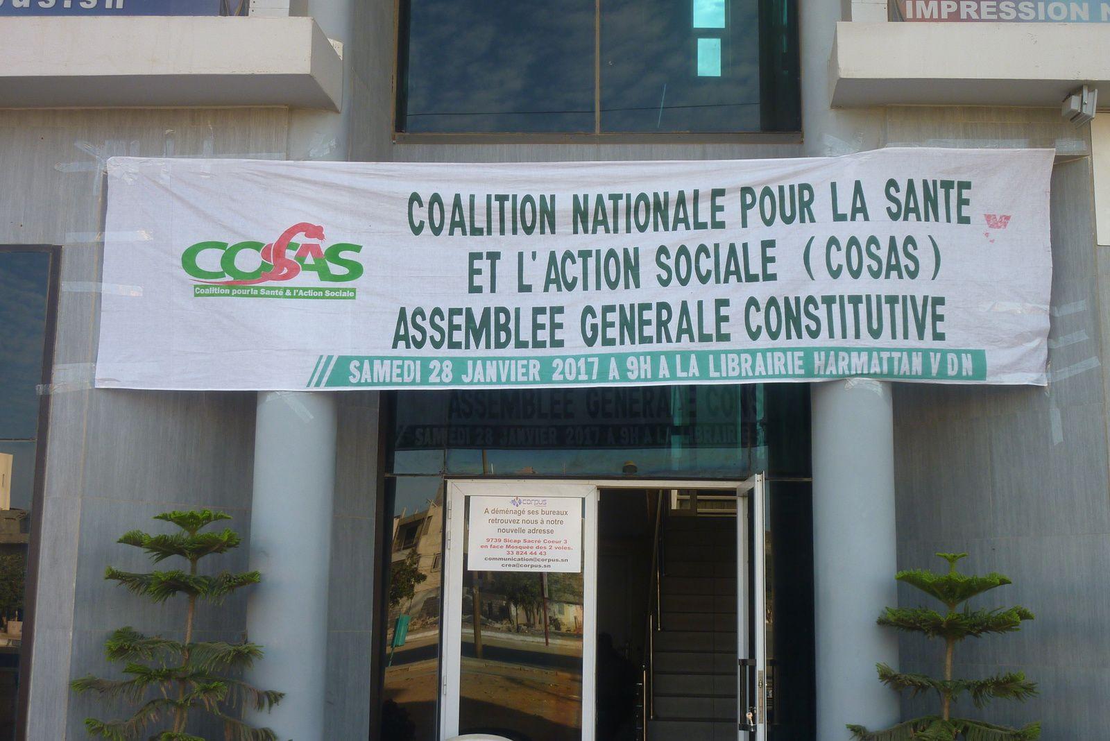 ASSEMBLÉE GÉNÉRALE CONSTITUTIVE DE LA COALITION POUR LA SANTÉ ET L'ACTION SOCIALE