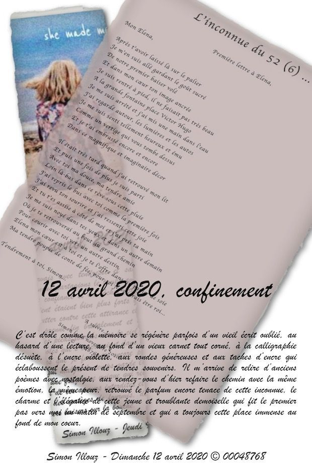 12 avril 2020, confinement...