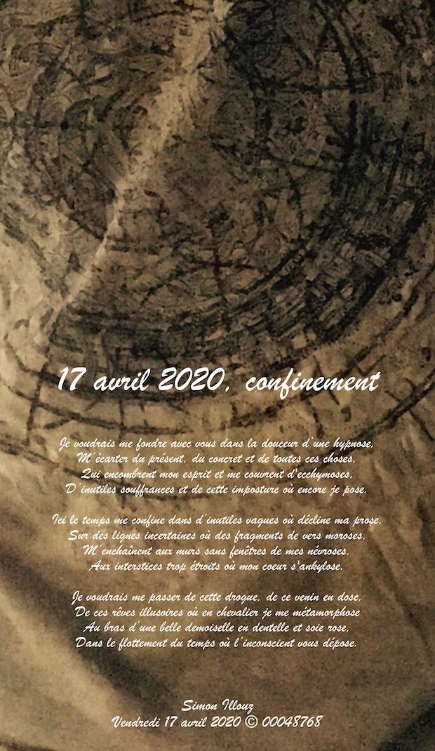 17 avril 2020, confinement...