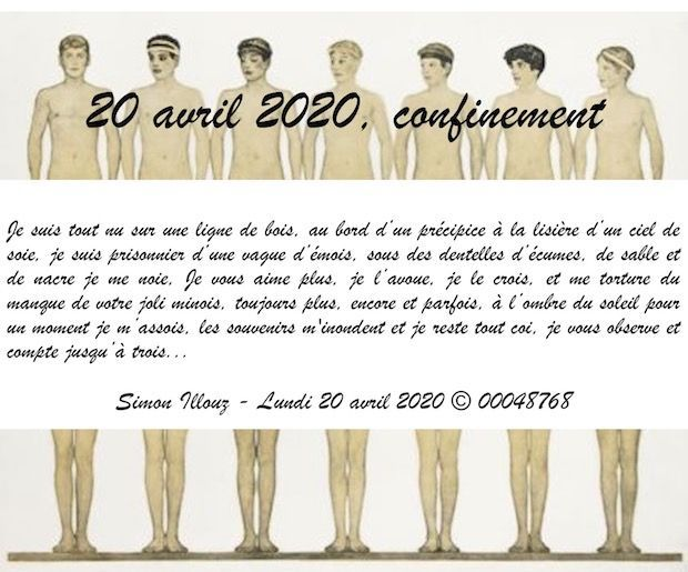 20 avril 2020, confinement...