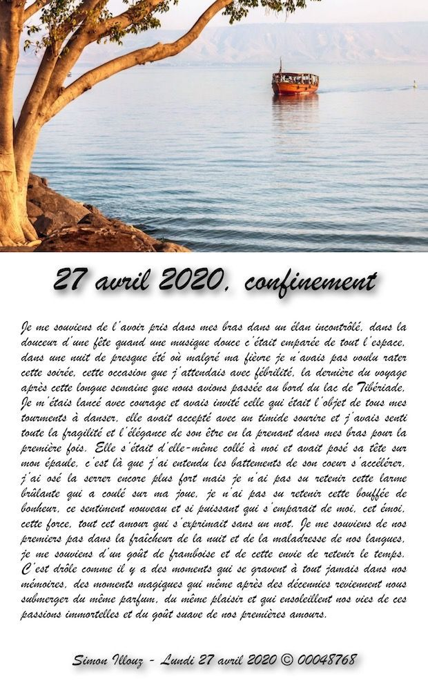 27 avril 2020, confinement...