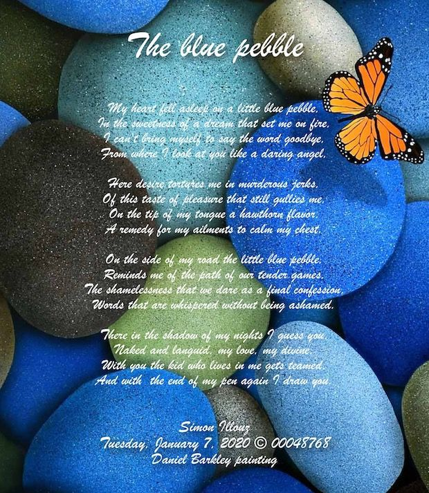 The blue pebble...