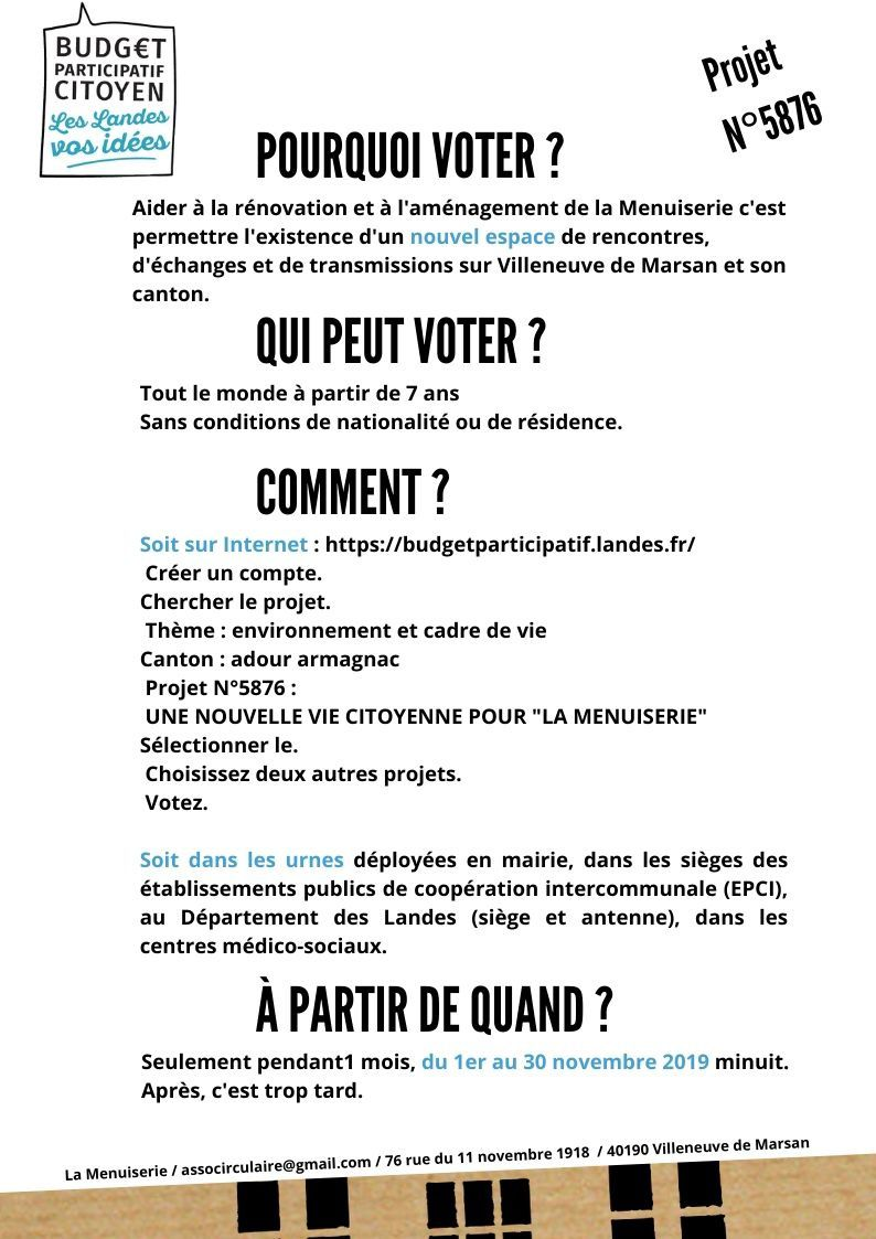 Budget Participatif Citoyen pub copinage